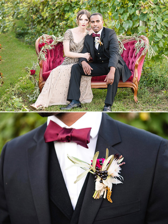 organic boutonniere @weddingchicks