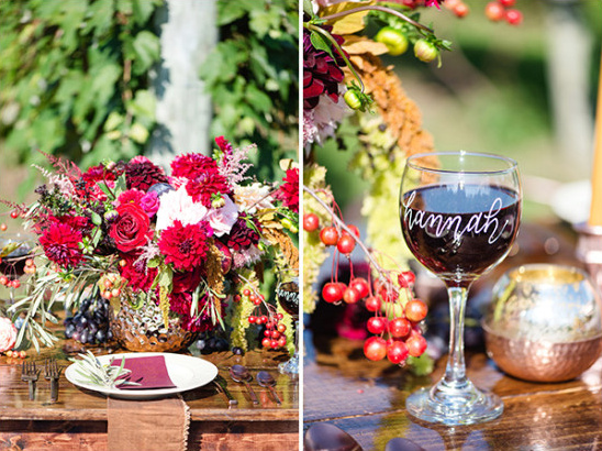 vineyard wedding reception @weddingchicks