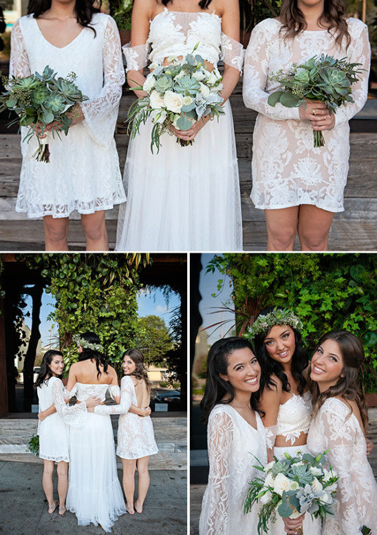 lace bridesmaid dresses @weddingchicks