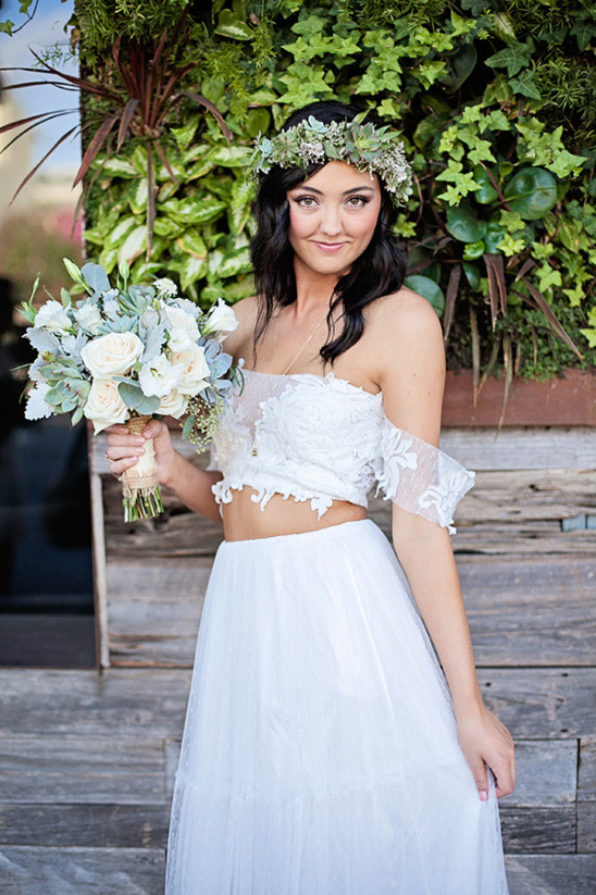 two piece wedding dress @weddingchicks