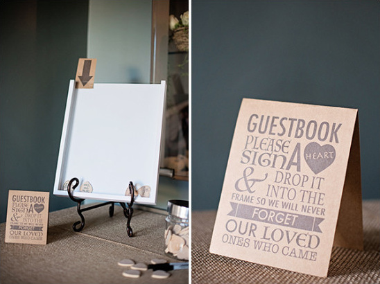 frame guest book @weddingchicks