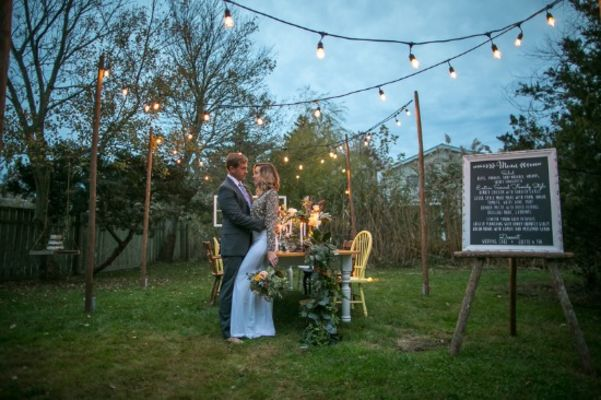 Vintage VW Backyard Wedding