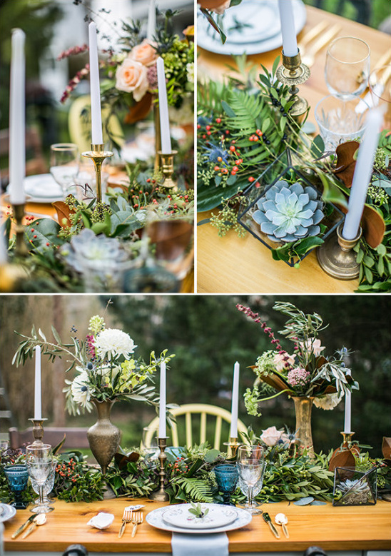 organic table decor @weddingchicks