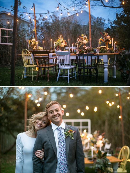 romantic reception lighting @weddingchicks