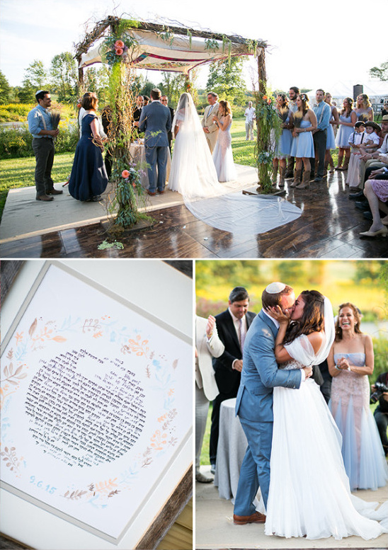 Jewish wedding ceremony @weddingchicks