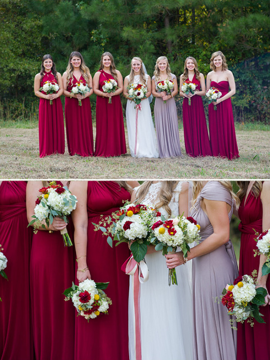 marsala bridesmaids @weddingchicks