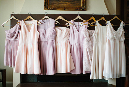 pink mismatched bridesmaid dresses @weddingchicks