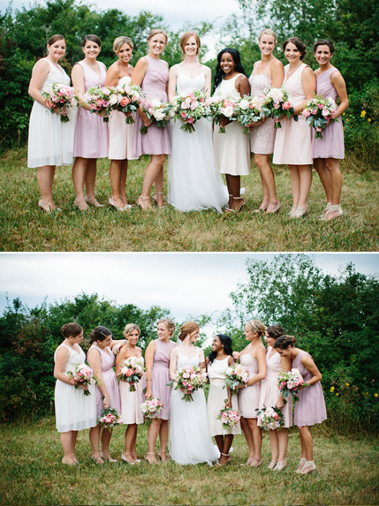 bridesmaids in pink @weddingchicks