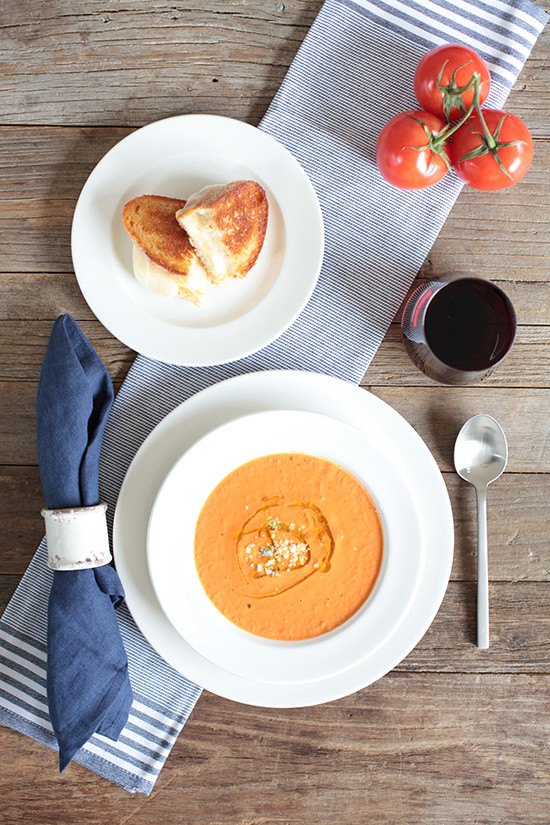 Tomato Basil Soup Recipe @weddingchicks