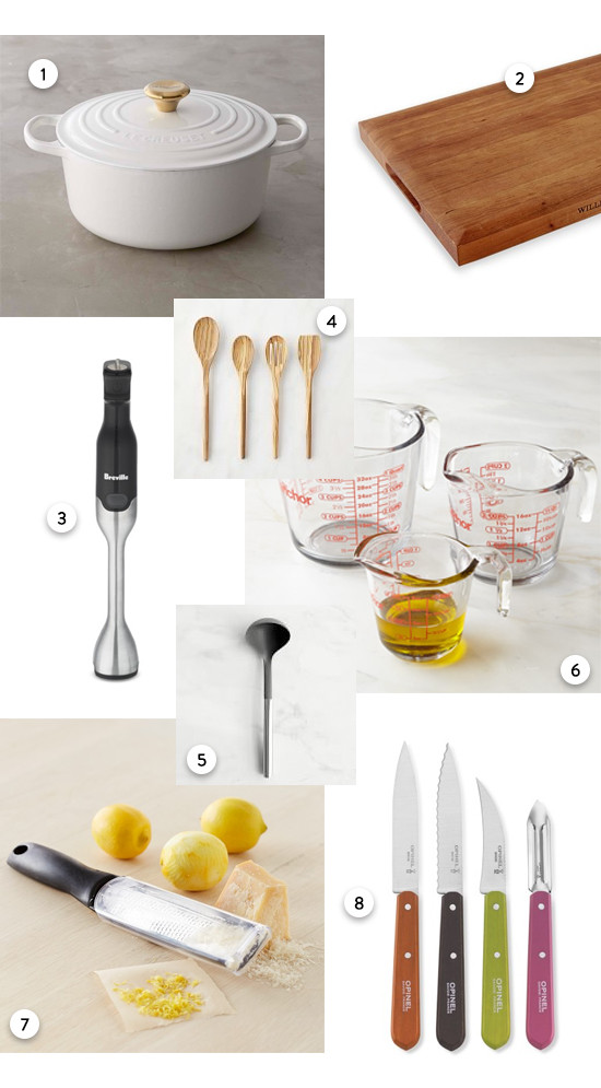 tools you will need to make soup from @williamsonoma