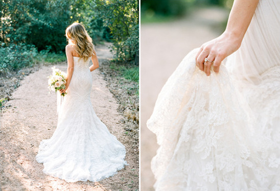 beautiful lace wedding gown @weddingchicks