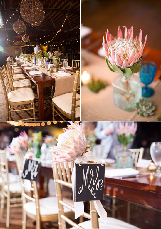 reception table decor @weddingchicks