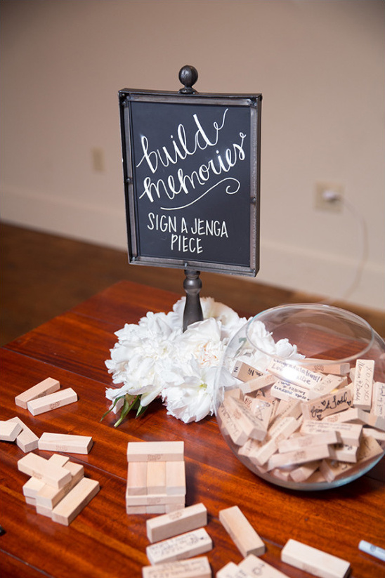 jenga guest book @weddingchicks
