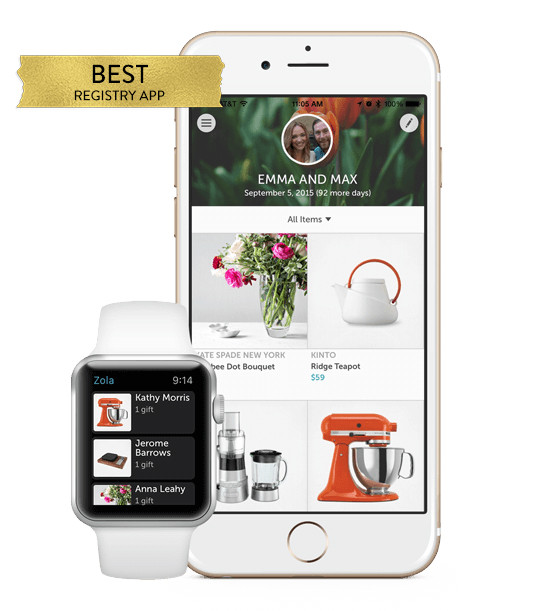 Best wedding registry app from @zolaregistry