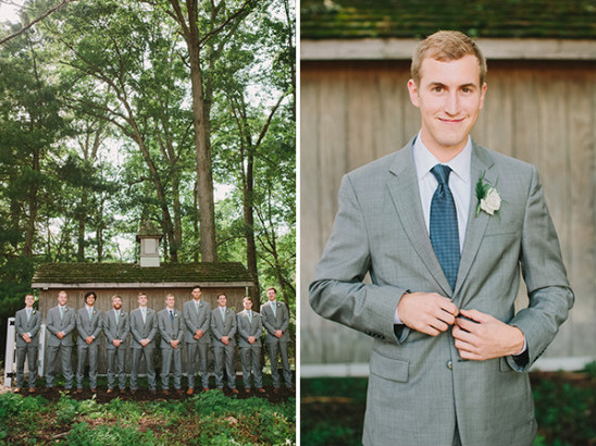 groomsmen in gray @weddingchicks