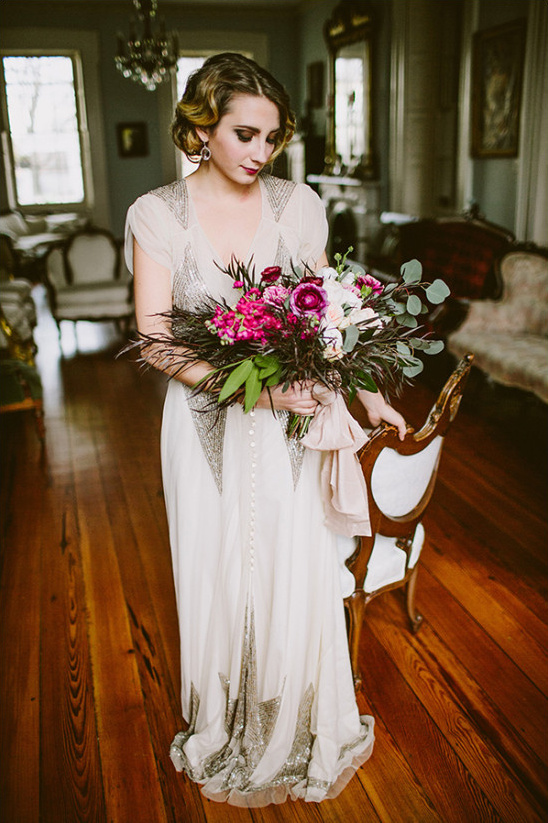 modern vintage bridal look @weddingchicks