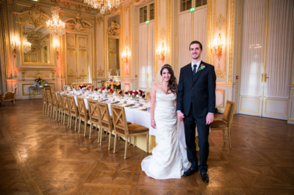 Black and Gold Wedding in Paris