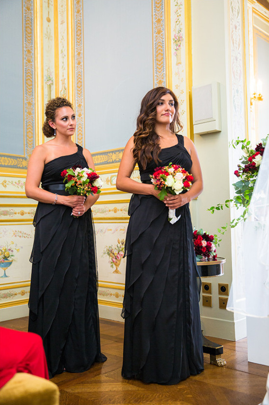 black bridesmaids dresses @weddingchicks