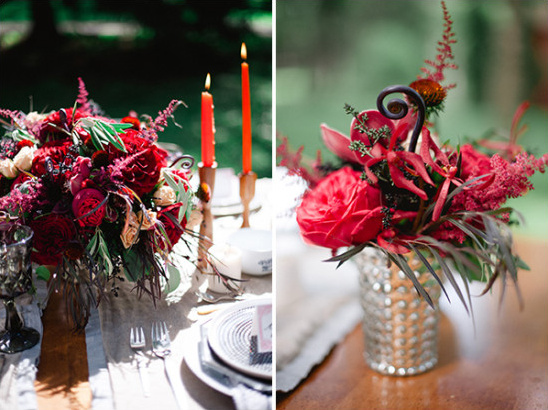 red floral centerpieces @weddingchicks