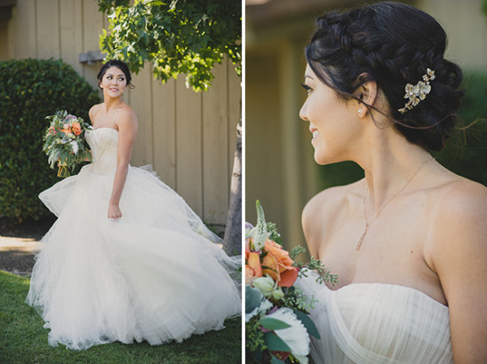 wedding dress and hair @weddingchicks