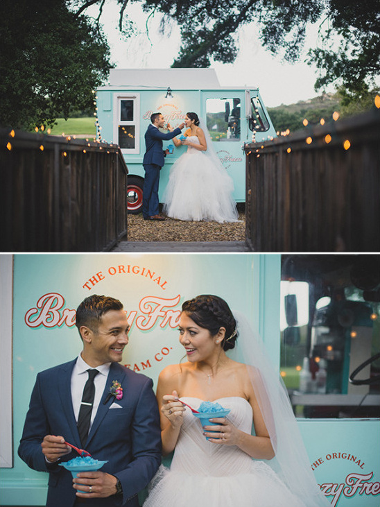 wedding snow cones @weddingchicks