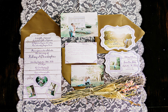 purple wedding stationery @weddingchicks