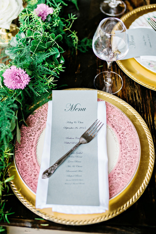 wedding place setting @weddingchicks