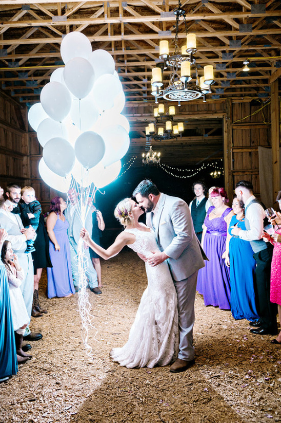 glowing balloons wedding exit @weddingchicks