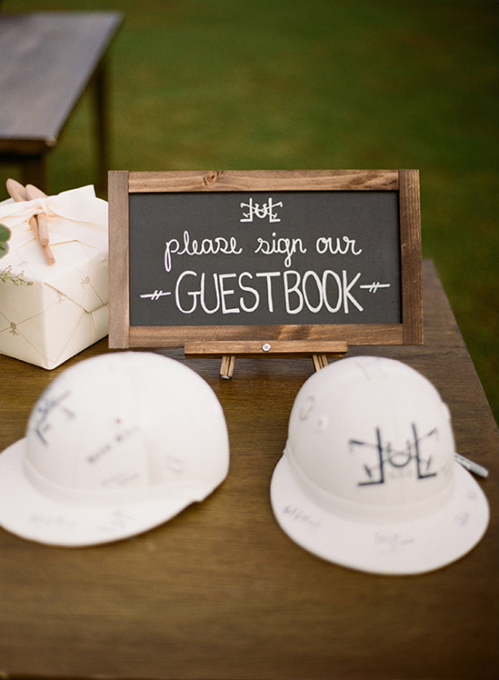 polo helmet guestbook idea @weddingchicks