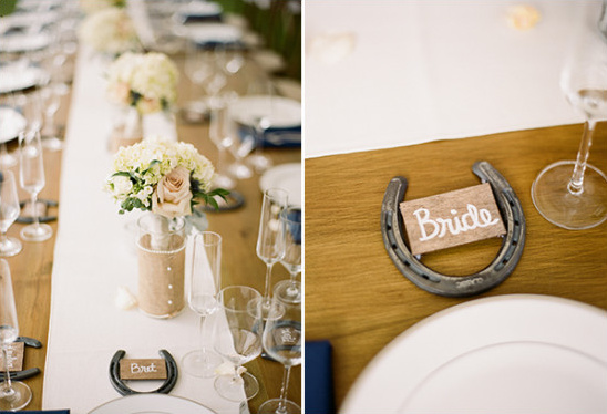 horseshoe placecards @weddingchicks