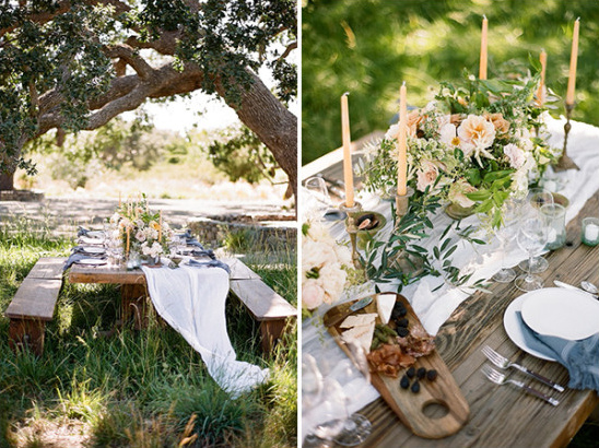 wine country reception table ideas @weddingchicks