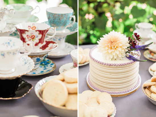 tea cup decor @weddingchicks