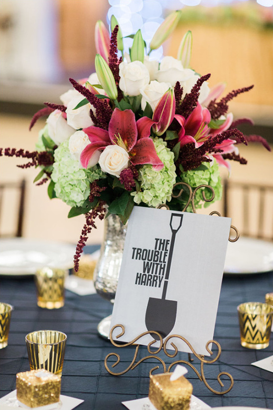 movie title table numbers @weddingchicks