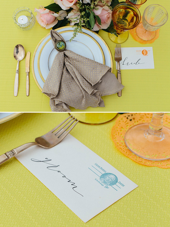 love letter place cards @weddingchicks