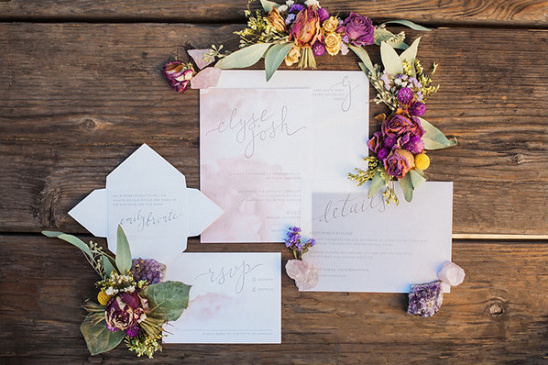 pretty pastel wedding stationery @weddingchicks