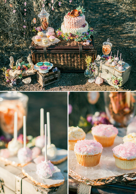crystal inspired dessert table @weddingchicks