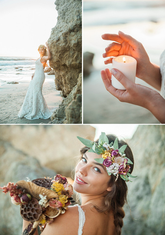 sunset beach wedding photography @weddingchicks