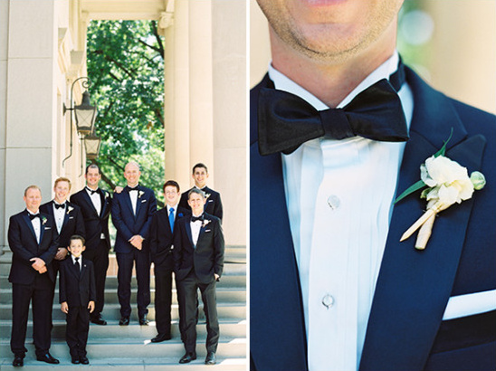 groomsmen in tuxedos @weddingchicks