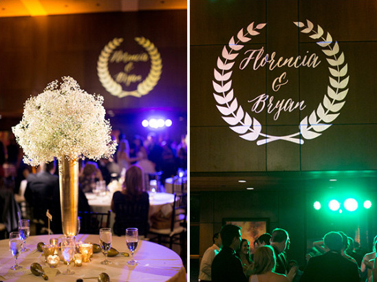 monogram and wedding lighting @weddingchicks