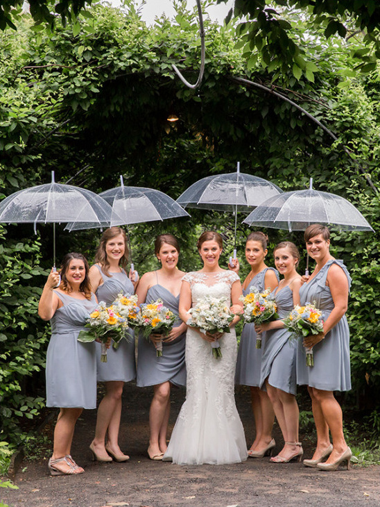 grey bridesmaids @weddingchicks