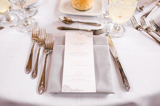 menu @weddingchicks