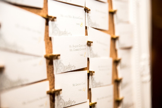 escort cards @weddingchicks