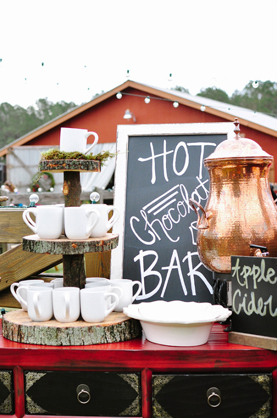 ceremony hot chocolate bar @weddingchicks