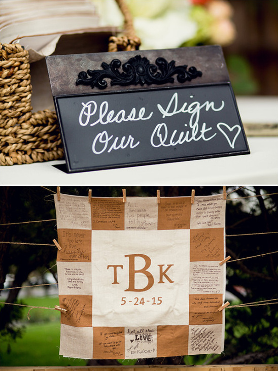 guest book quilt @weddingchicks