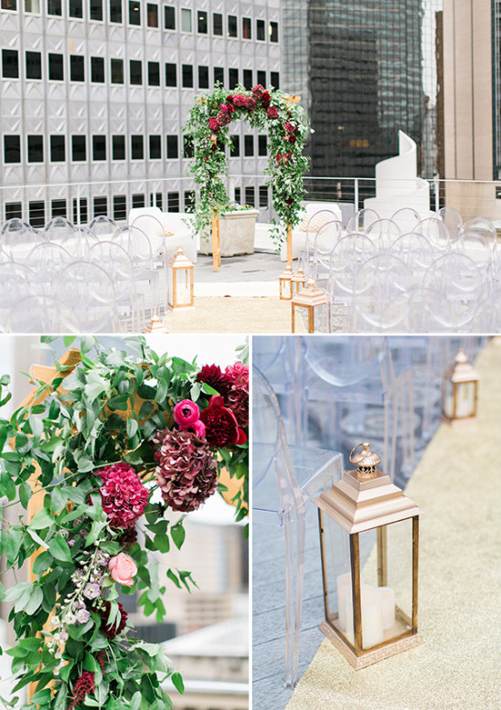 rooftop ceremony decor @weddingchicks