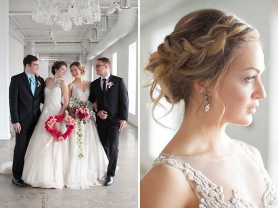 loose braid wedding hair @weddingchicks