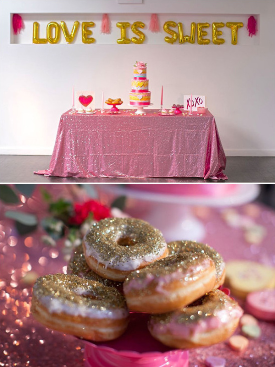 gold glitter donuts @weddingchicks