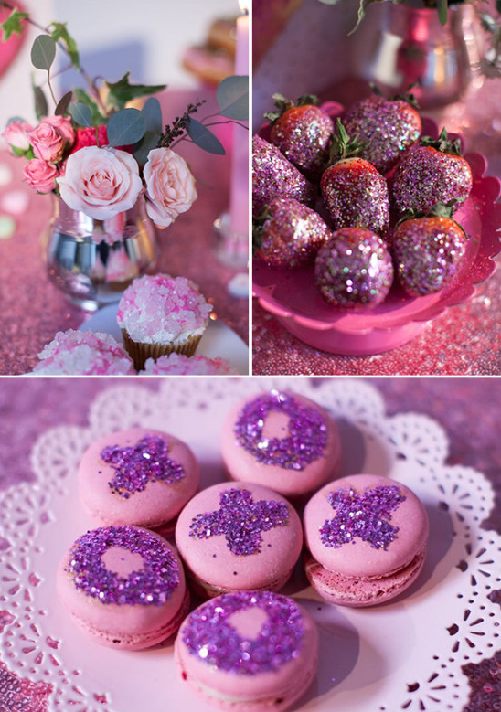 glitter macaroons @weddingchicks