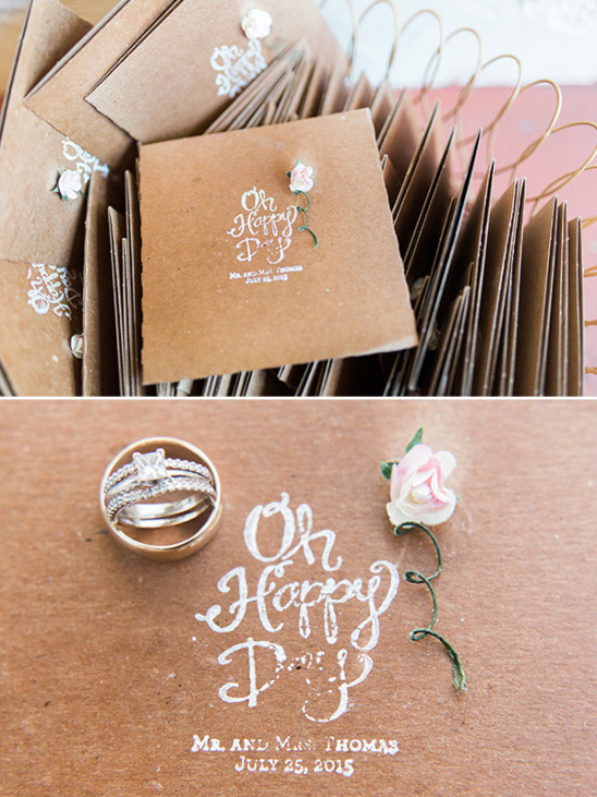 darling wedding programs @weddingchicks