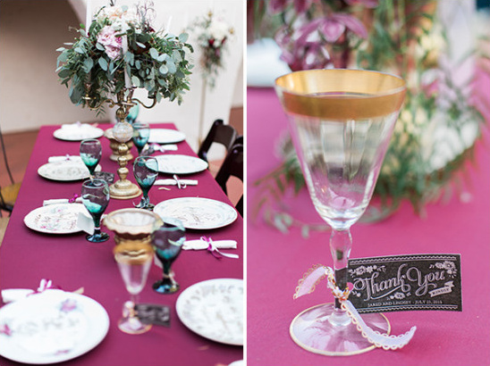 thank you not gold rimmed glass @weddingchicks